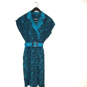 all that jazz belted a-line dress 80s 90s pinup